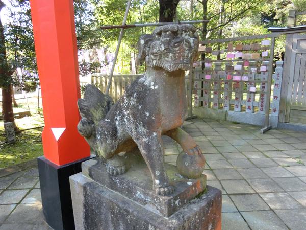 江島神社奥津宮の左の狛犬
