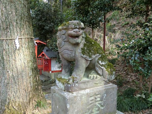 穴澤天神社の右の狛犬