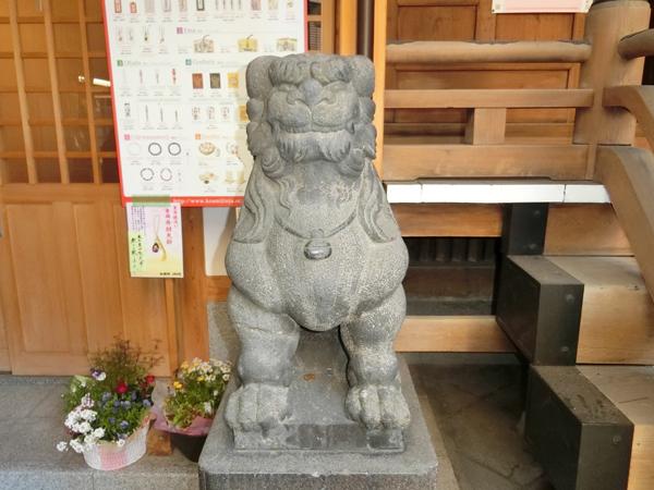 小網神社の左の狛犬