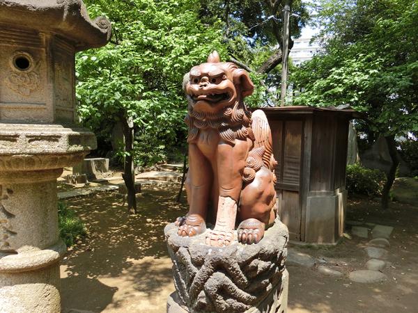 品川神社の右の狛犬