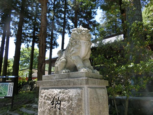 諏訪大社前宮の左の狛犬