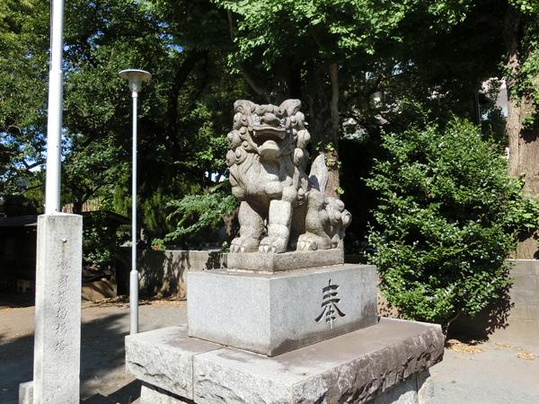 関前八幡神社の右の狛犬