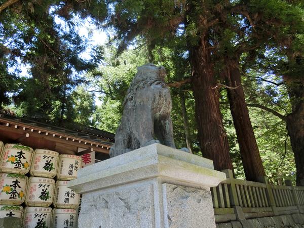 諏訪大社春宮の左の狛犬