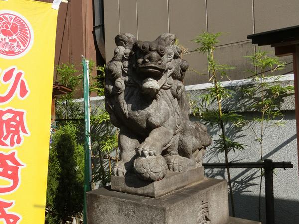 烏森神社の右の狛犬