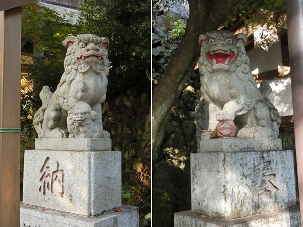 高尾山薬王院の狛犬