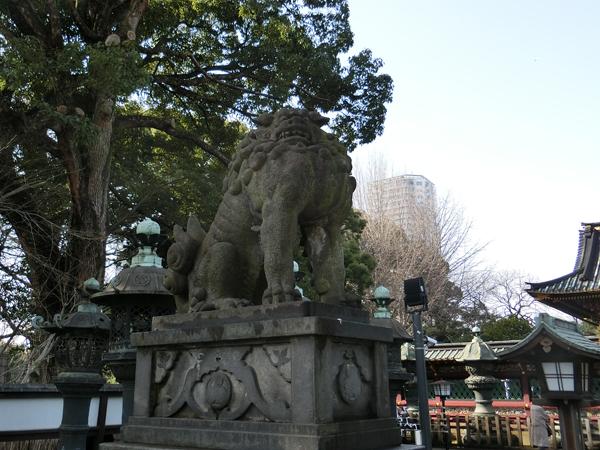 上野東照宮の左の狛犬