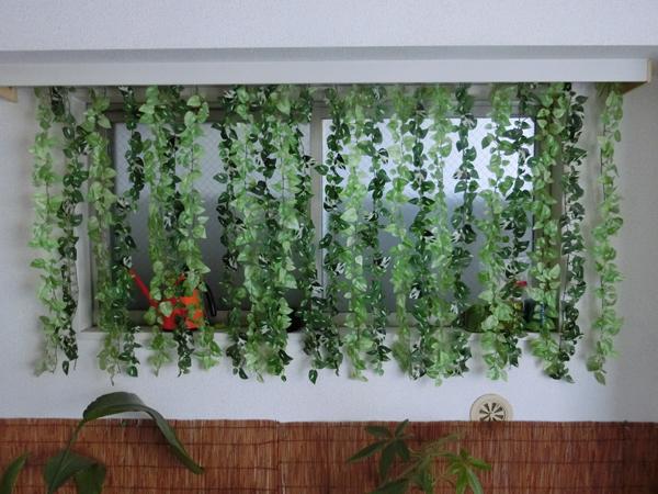 造花のカーテン