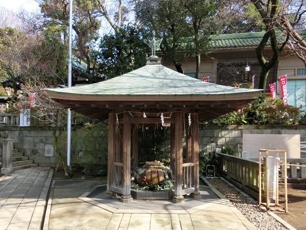 五條天神社の手水舎