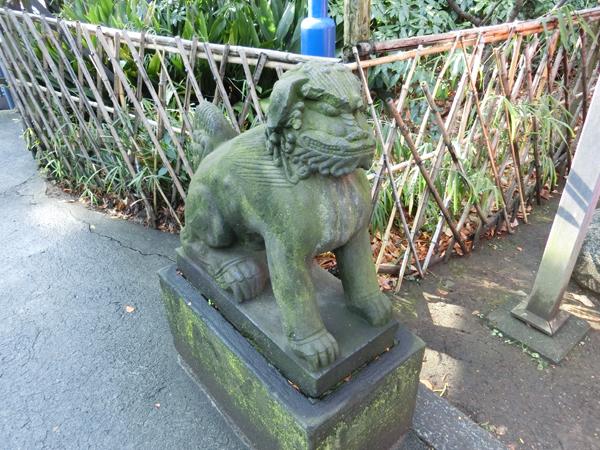 花園稲荷神社の左の狛犬
