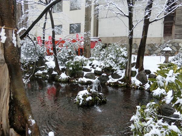秩父今宮神社の龍神池