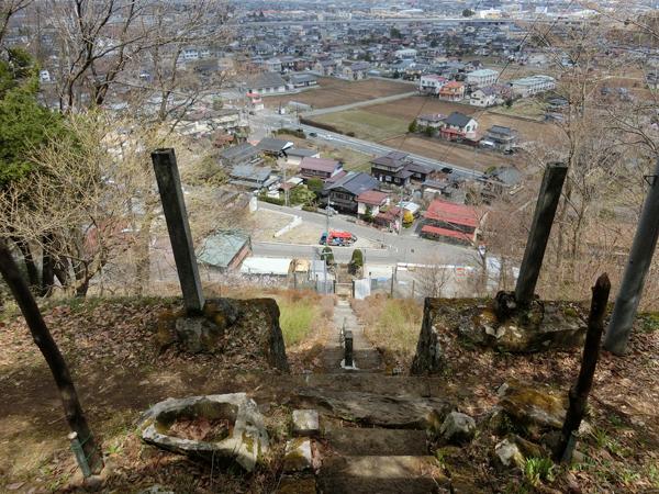 北斗神社の石段