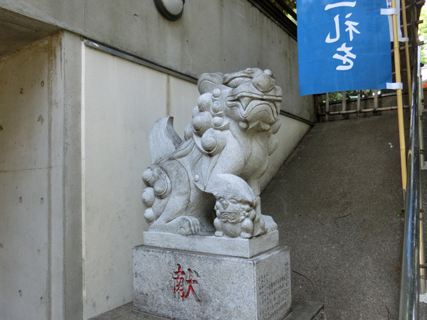 自由が丘熊野神社の左の狛犬