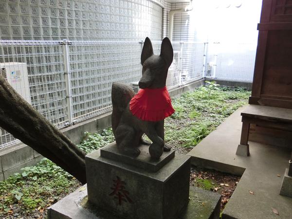 さくら稲荷神社の左の狐