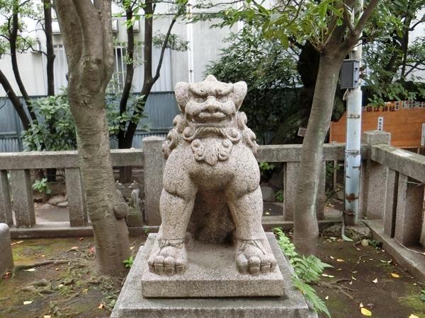 猿江神社の右の狛犬