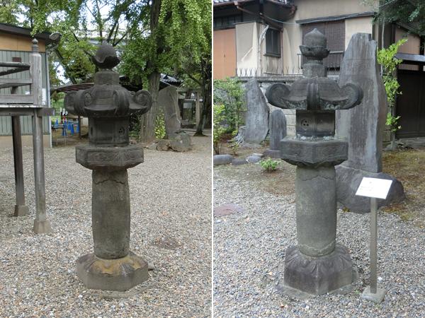 三囲神社の三つ穴灯篭