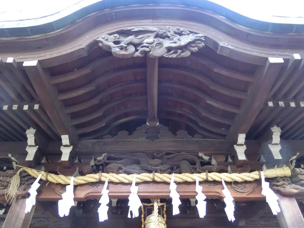 上石原若宮八幡神社の彫刻