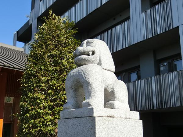 赤城神社の右の狛犬