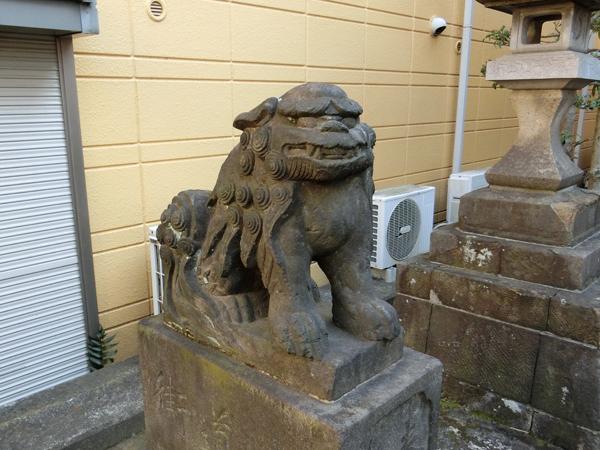 秋葉神社の左の狛犬
