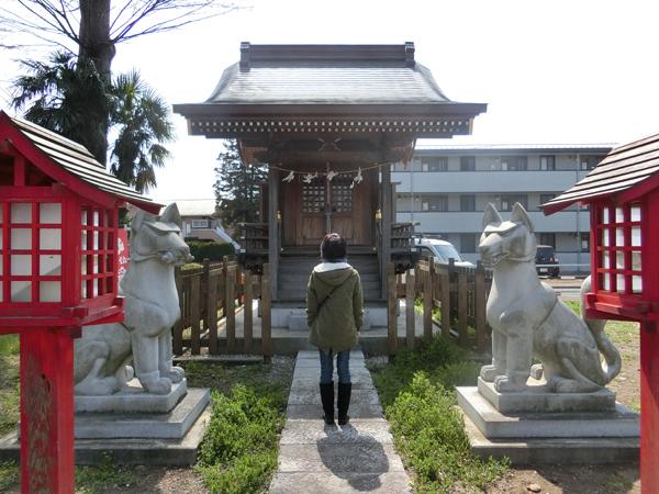 車返稲荷神社の狐