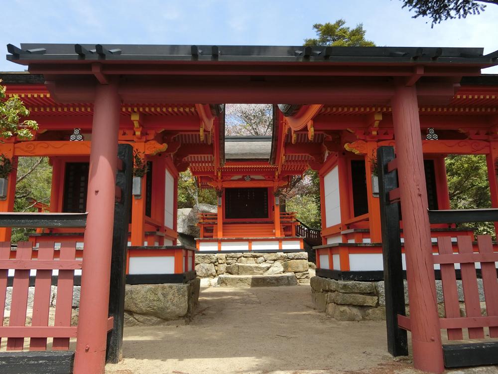 弥山にある御山神社の紹介