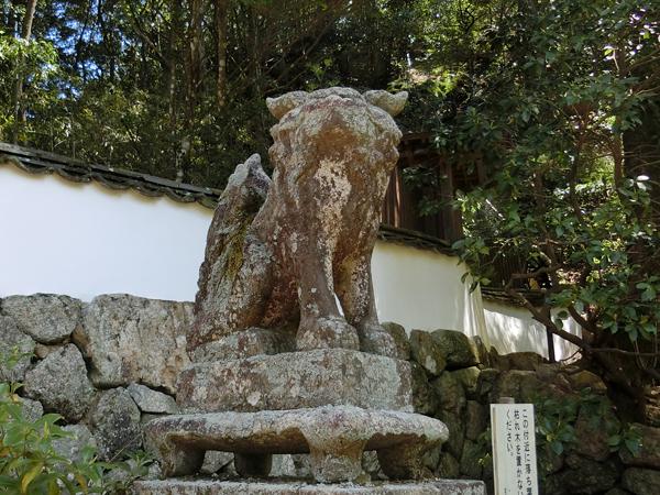 滝宮神社の左の狛犬