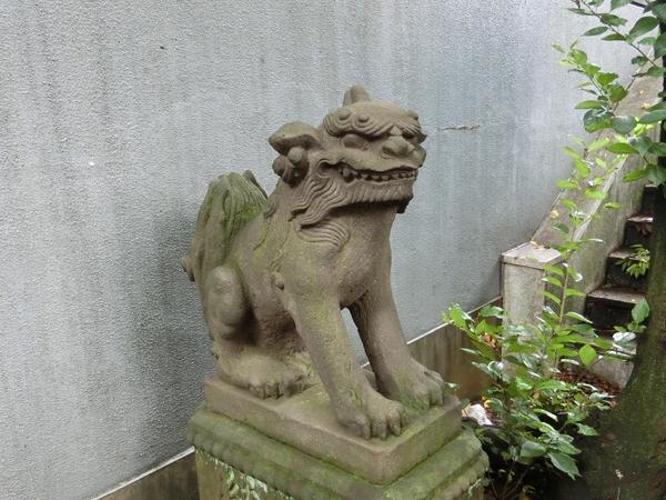 櫻田神社の左の狛犬