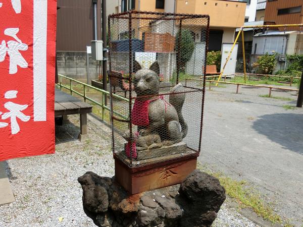 鼓稲荷神社の右の狐