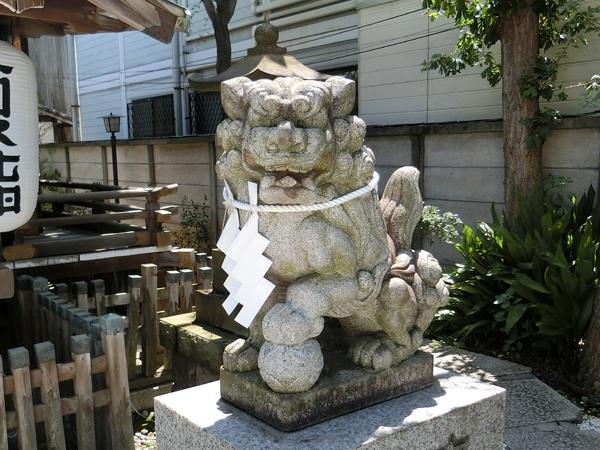 幸稲荷神社の右の狛犬
