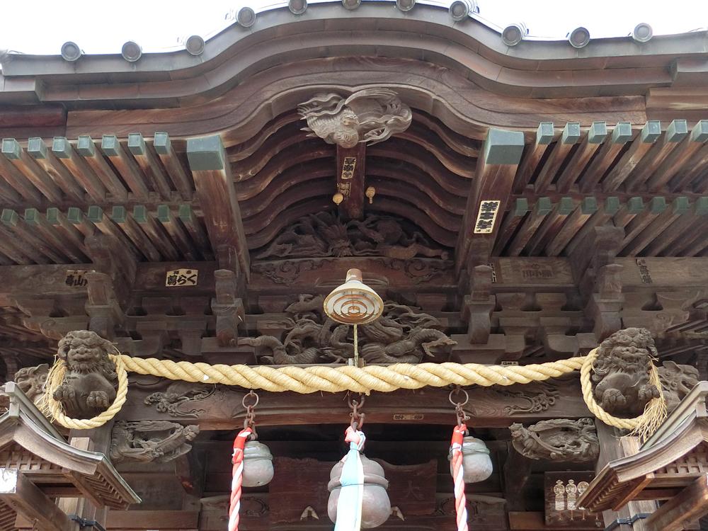 大戸神社の彫刻