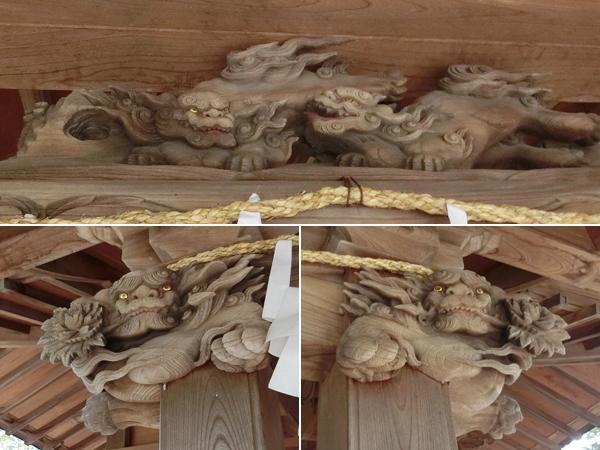 八雲神社の彫刻