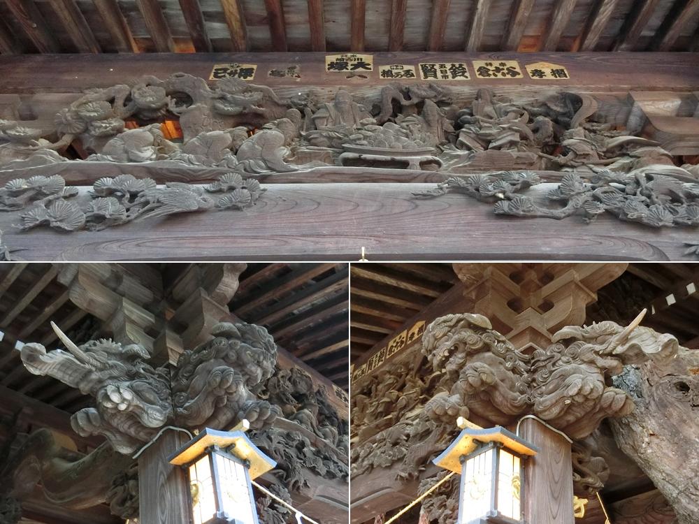 子之神社の彫刻