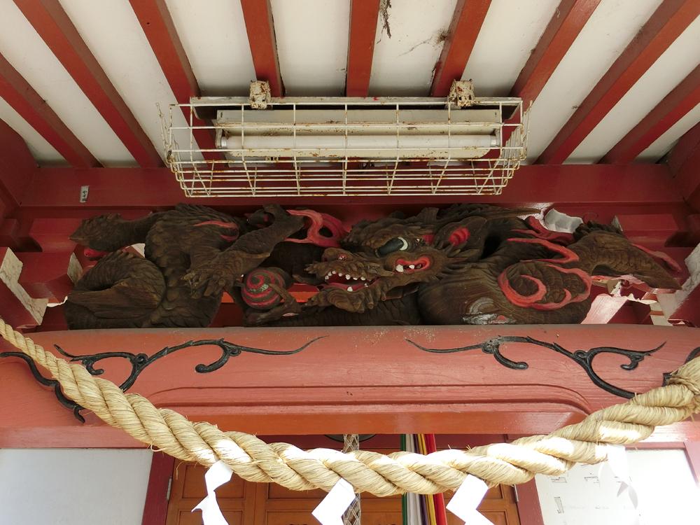 玉川弁財天の彫刻