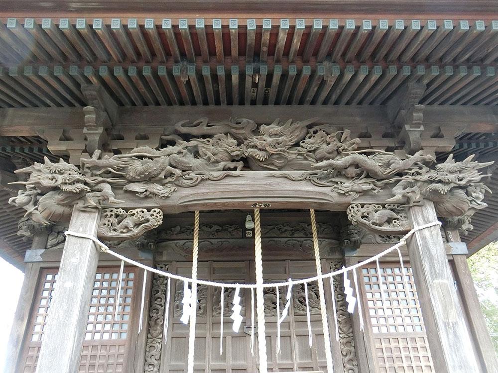 登戸稲荷神社の彫刻