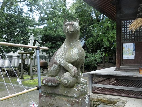中野島稲荷神社の神狐