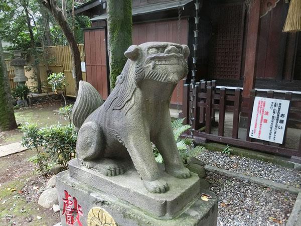 多武峯内藤神社の狛犬