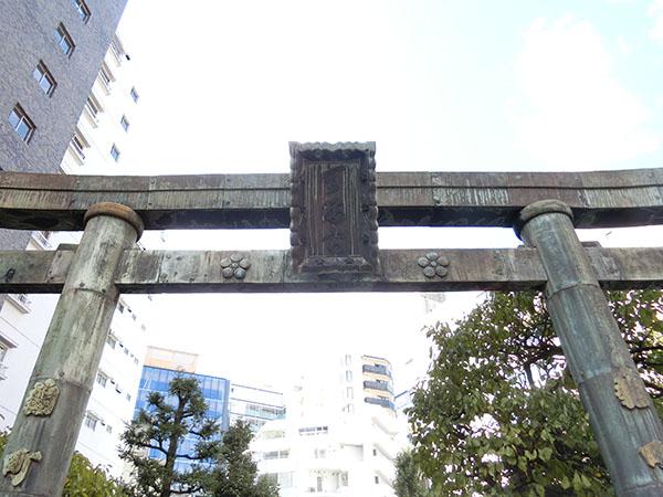 平河天満宮の銅鳥居