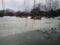中島公園の池まだ凍ってた。溶け始めてはいる。