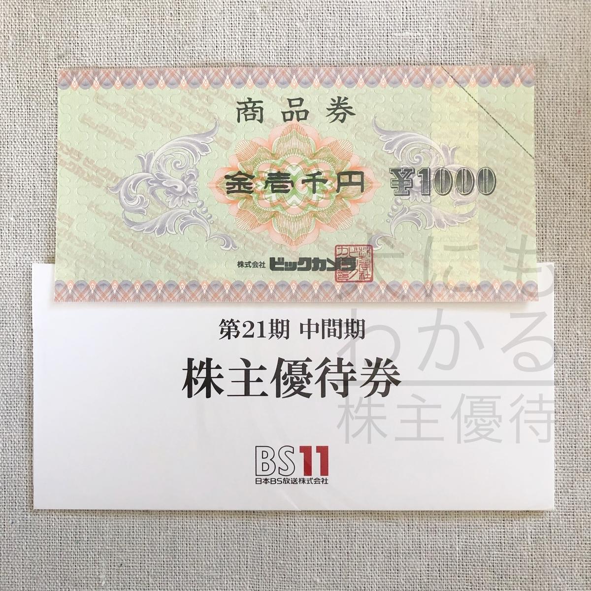 日本BS放送株式会社 株主優待品
