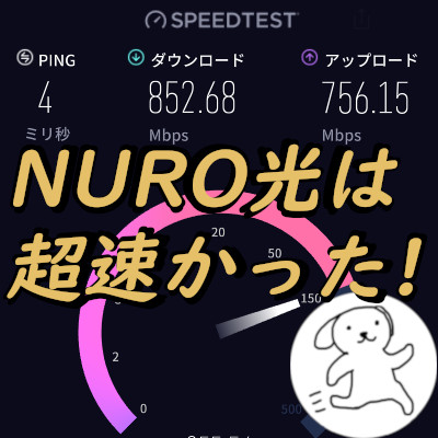 NURO光は超速かった!