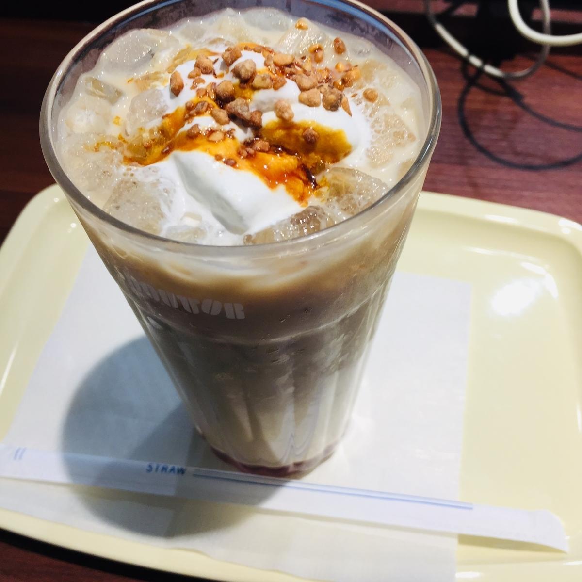 ドトールのアイスキャラメルナッツラテ