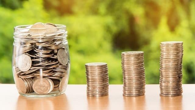 貯金により資産が増えていく様子
