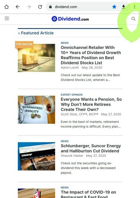 dividend.comメイン画面