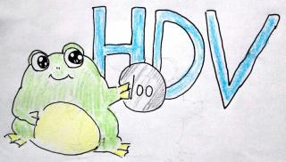 HDVとふふ~んガエル