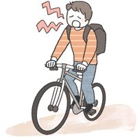 自転車男性イラスト