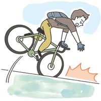 自転車事故男性イラスト