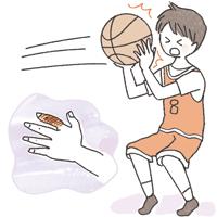 スポーツ 病気怪我のイラスト