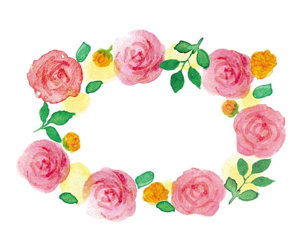 バラ水彩イラストレーター