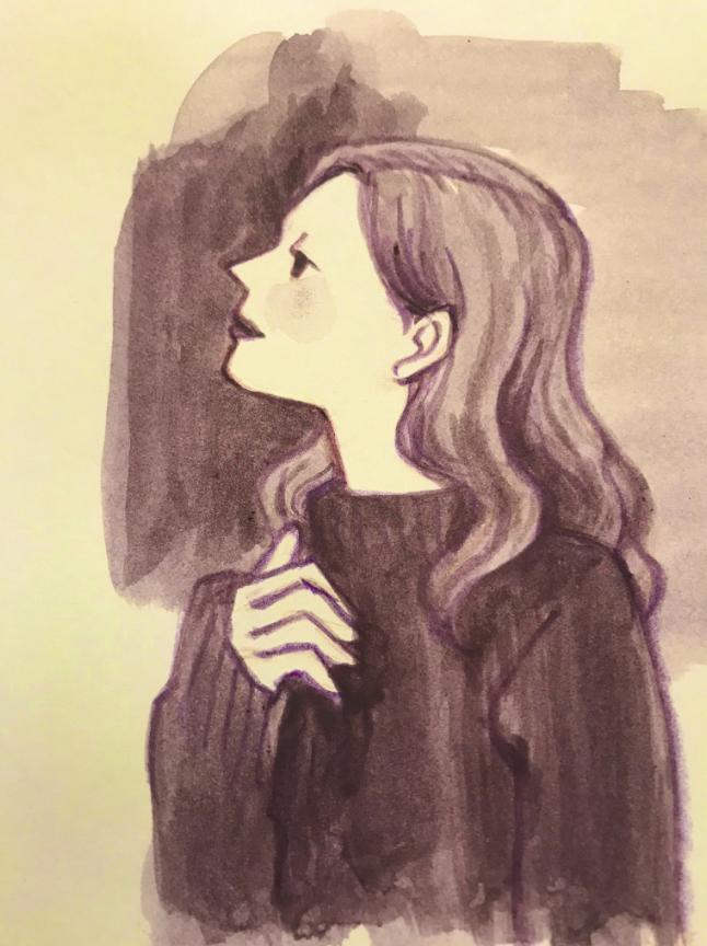 女性 水彩 イラスト