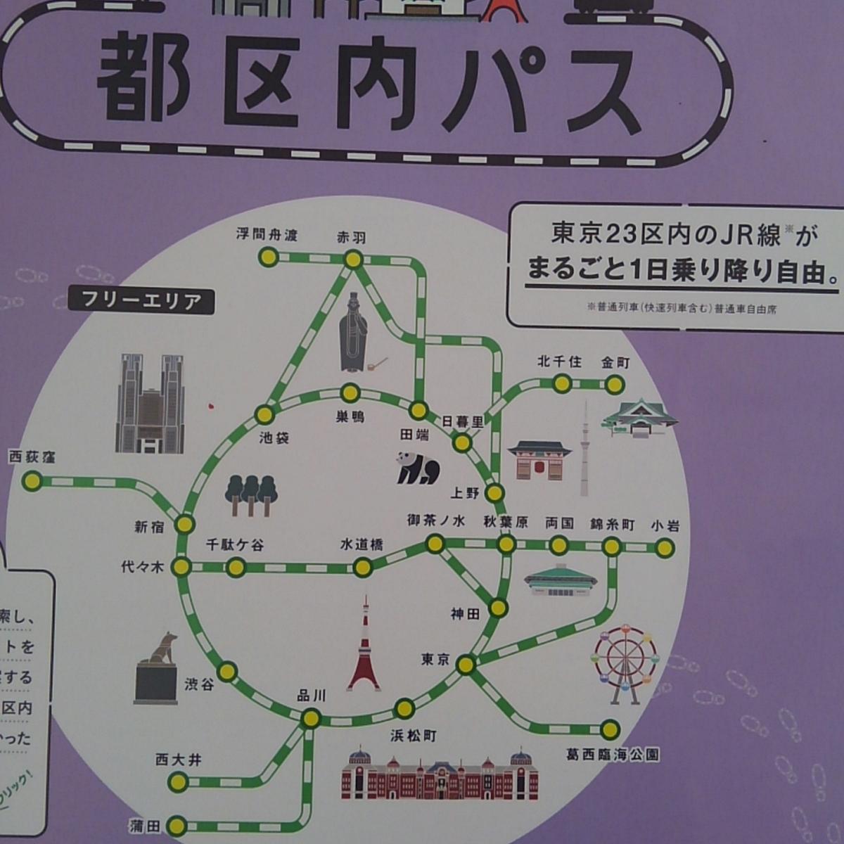 ガンダムスタンプラリー JR東日本 都区内パス