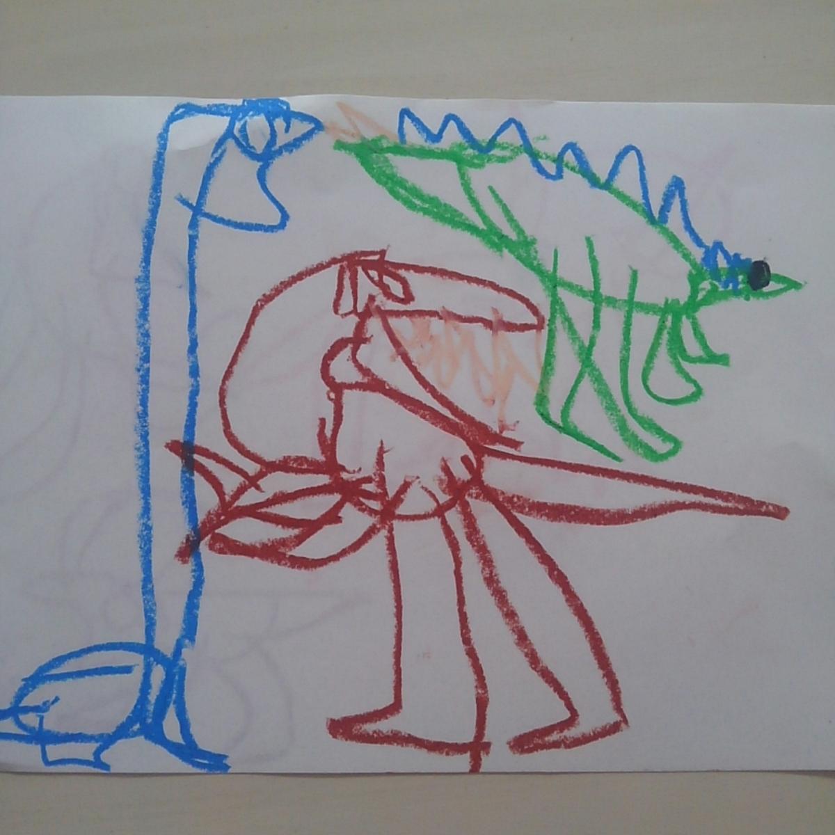 ハッピーセット ジュラシック・ワールド 恐竜のイラスト